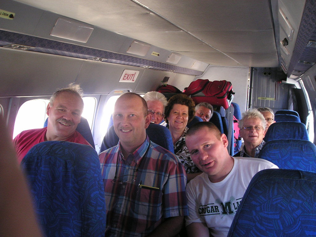 Team flying from P-a-P to Cayes, 2009