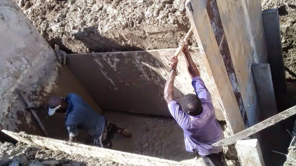Digging anchor foundations, Menelas