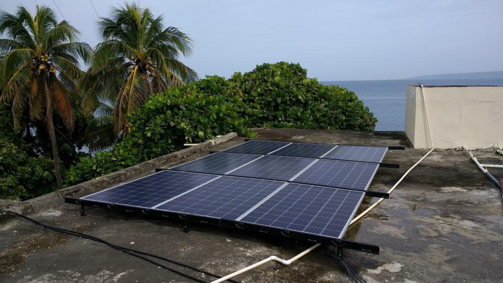 Solar install, Port-de-Paix, 2016