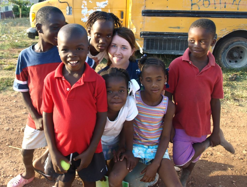 With the kids, Jacmel, 2011
