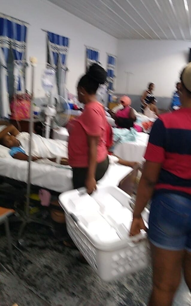 Earthquake relief to the hospital