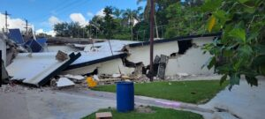 Damaged Lumiere Hospital at Bon Finne.