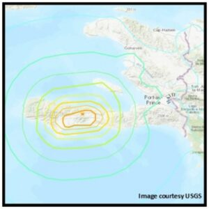 August 14 earthquake epicenter